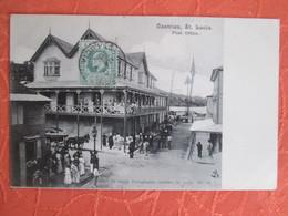 Castries St Lucia Post Office  . Rare - Sainte-Lucie