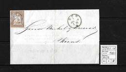 1854-1862 Helvetia (Ungezähnt) Strubel → 1858 Brief Wädenschweil Via ZUG, BECKENRIED Nach Kerns  ►SBK-22B3.IV◄ - Lettres & Documents