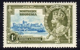 Northern Rhodesia GV 1935 Silver Jubilee 1d Value, Hinged Mint, SG 18 (A) - Northern Rhodesia (...-1963)