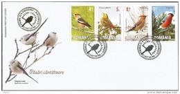 RO 2015- BIRDS, ROMANIA, FDC - FDC