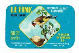 """Petite étiquette Rectangulaire """" LE FINK """" (Chardonneret) Super Export - Quesos"""