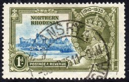 Northern Rhodesia GV 1935 Silver Jubilee 1d Value, Used, SG 18 (A) - Northern Rhodesia (...-1963)