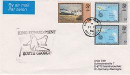 South Georgia 1988 King Edward Point Ca 26 Fe 1988 Cover (42452) - Brits Antarctisch Territorium  (BAT)