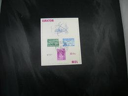 """BELG.1961 1195/1197 FDC Philacard( Brux/Brus )  : """" EUROTOM """" - Cartes Souvenir"""
