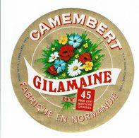 """Et. Camembert """" GILAMAINE """" De Normandie - Bouquet De Fleurs - Quesos"""