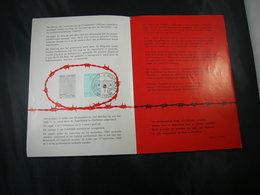"""BELG.1962 1224 FDC Folder NL. (Breendonk) : """"  Camps De Concentration Concentratiekampen Pélerinage Au Fort De Breend- """" - FDC"""