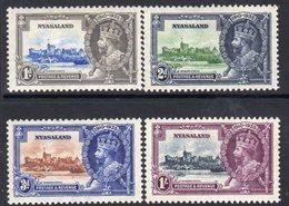 Nyasaland GV 1935 Silver Jubilee Set Of 4, Hinged Mint, SG 123/6 (A) - Nyasaland (1907-1953)