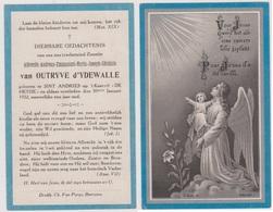 R.I.P. - Noblesse - Van OUTRYVE D'YDEWALLE - 1921 Sint Andries Kasteel DE HEYDE †  1922 Idem - Santini