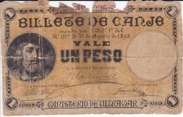 BILLETE DE PUERTO RICO DE 1 PESO DEL AÑO 1895  (BANKNOTE) MINISTERIO DE ULTRAMAR - Puerto Rico
