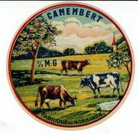 """Et. Camembert """" 0% """" Fabriqué En Normandie - 3 Vaches (Passe Partout ?) - Quesos"""