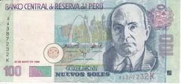 BILLETE DE PERU DE 100 NUEVOS SOLES DEL AÑO 1999 (BANKNOTE) - Peru