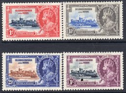 St. Kitts GV 1935 Silver Jubilee Set Of 4, Hinged Mint, SG 61/4 (A) - St.Christopher-Nevis-Anguilla (...-1980)