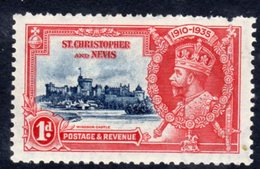 St. Kitts GV 1935 Silver Jubilee 1d Value, Hinged Mint, SG 61 (A) - St.Christopher-Nevis-Anguilla (...-1980)
