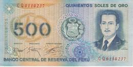 BILLETE DE PERU DE 500 SOLES DE ORO DEL AÑO 1976 EN CALIDAD EBC (XF) (BANKNOTE) - Perù