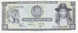 BILLETE DE PERU DE 50 SOLES DE ORO DEL AÑO 1977 SIN CIRCULAR-UNCIRCULATED (BANKNOTE) - Perú