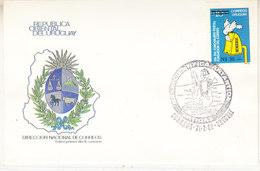 Uruguay 1989 Base Artigas Cover (42455) - Postzegels