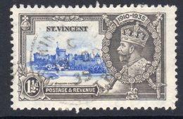 St. Vincent GV 1935 Silver Jubilee 1½d Value, Used, SG 143 (A) - St.Vincent (...-1979)