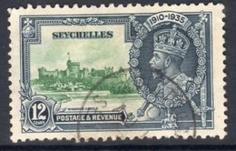 Seychelles GV 1935 Silver Jubilee 12c Value, Used, SG 129 (A) - Seychelles (...-1976)
