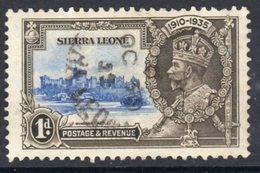 Sierra Leone GV 1935 Silver Jubilee 1d Value, Used, SG 181 (A) - Sierra Leone (...-1960)