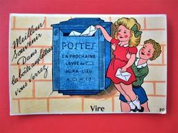 Cpa A Systeme VIRE ( Calvados )  - La Poste Boites Aux Lettres - TBE - - Vire