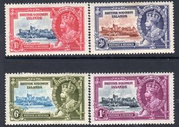 Solomon Islands GV 1935 Silver Jubilee Set Of 4, Hinged Mint, SG 53/6 (A) - British Solomon Islands (...-1978)