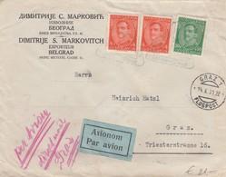 Austria - 1931 Airmail Beograd To Graz - 1931-1941 Royaume De Yougoslavie