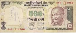 BILLETE DE LA INDIA DE 500 RUPEES SIN FECHA   (BANKNOTE) DIFERENTES FIRMAS - India
