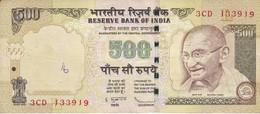 BILLETE DE LA INDIA DE 500 RUPEES DEL AÑO 2009   (BANKNOTE) DIFERENTES FIRMAS - India