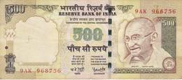 BILLETE DE LA INDIA DE 500 RUPEES DEL AÑO 2006   (BANKNOTE) DIFERENTES FIRMAS - India