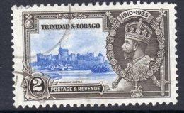 Trinidad & Tobago GV 1935 Silver Jubilee 2c Value, Used, SG 239 (A) - Trinidad & Tobago (...-1961)