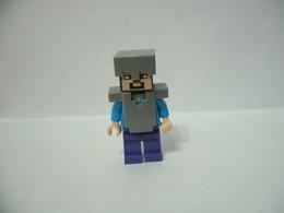 LEGO MINIFIGURES MINECRAFT STEVE ELMETTO ARMATURA - Lego
