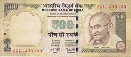 BILLETE DE LA INDIA DE 500 RUPEES DEL AÑO 2008   (BANKNOTE) DIFERENTES FIRMAS - India