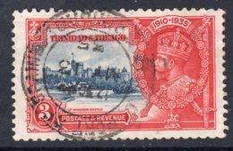 Trinidad & Tobago GV 1935 Silver Jubilee 3c Value, Used, SG 240 (A) - Trinidad & Tobago (...-1961)