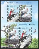 Belarus 2019 - Europa-CEPT. National Birds, S/s MNH. White Stork, Bird, Cigogne Blanche, Weißstorch, Vogel. - Belarus