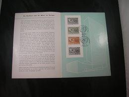 """BELG.1962 1231/1232 FDC Postfolder NL.  : """" Droit De L'homme / Mensenrechten """" - FDC"""