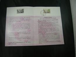 "BELG.1963 1250 FDC Postfolder NL. (Brux/Brus) : "" Conférence Postale/postconferentie Internationale Paris "" - FDC"