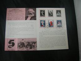 "BELG.1964 1290/1292 FDC Postfolder NL.  (Antwerpen) : "" Socialisme 1864-1964 "" - FDC"