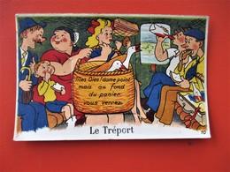 Carte A Systeme LE TREPORT  - 10 Vues Dans Le Panier - Belle Scene Ds Wagon De Train - Superbe Visuel - TBE - Le Havre