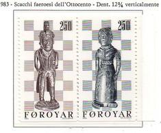 PIA  -  FAROER  -  1983  :  Gli Scacchi -  (Yv 76-77) - Scacchi