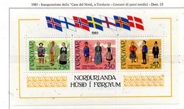 """PIA  -  FAROER  -  1983  : Inaugurazione Della """"Casa Del Nord"""" - Costumi Dei Popoli Nordici -  (Yv Bf 1) - Isole Faroer"""