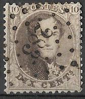 9W-963: OSTENDE : N°13A - 1865-1866 Profil Gauche