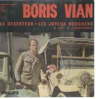"""45 Tours EP - BORIS VIAN  - PHILIPS 437030  -   """"  LE DESERTEUR """" + 3 - Vinyles"""
