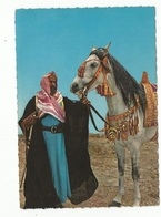CPSM , Arabie Saoudite  ,N°1151/23, A Sheikh And His Arabian  Horse , Ed. Kruger ,Arabie Sahoudite - Arabie Saoudite