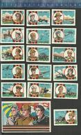 40 YEARS RUSSIAN ARMY 1918 - 1958 ( SOU22 - 1958 ) URSS SOUVENIR Matchbox Labels - Boites D'allumettes - Etiquettes