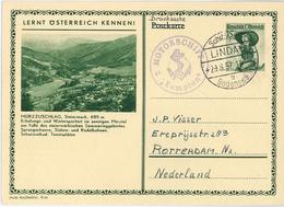 Ganzsache Mürzzuschlag Steiermark Schiffspost Lindau Bodensee MS Kempten Tracht Pustertal - 1945-60 Brieven
