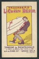Liège. Le Trocadéro  1917. LI COUZIN BEBER. Opérette. Illustration Signée C. Hustin. Litho La Meuse. Rare!   2 Scans. - Liege