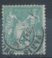 N°63 CAD PARIS - 1876-1878 Sage (Type I)