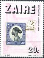 Centenaire De La Poste (Femme) - Zaïre - 1986 - Zaïre