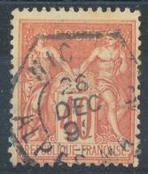 N°94 CACHET HEXAGONAL NICE. - 1876-1898 Sage (Type II)