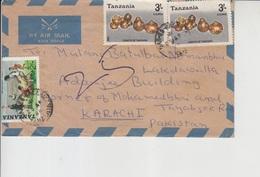 Tanzania Air Letter To Pakistan, Stamp    (A-2571) - Tanzania (1964-...)